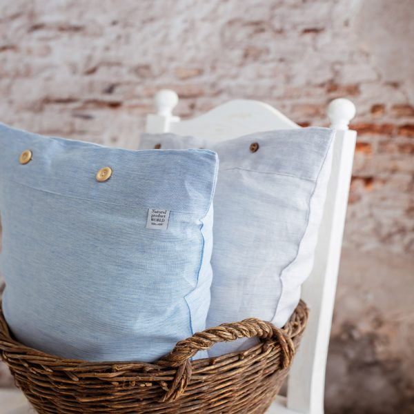 decorative pillowcase white blue