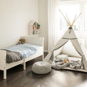 children's duvet cover white blue bedroom