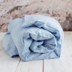 children's bedding white blue