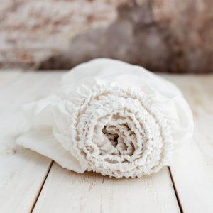 linen children's sheets white