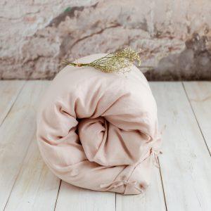 linen children's duvet cover tender rose