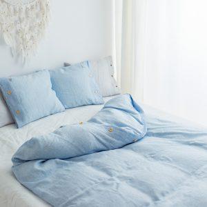 bedding duvet cover white blue
