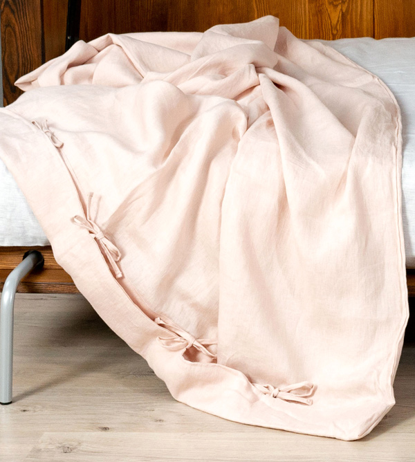 duvet cover tender rose bows
