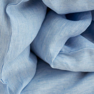 linen fabric white blue