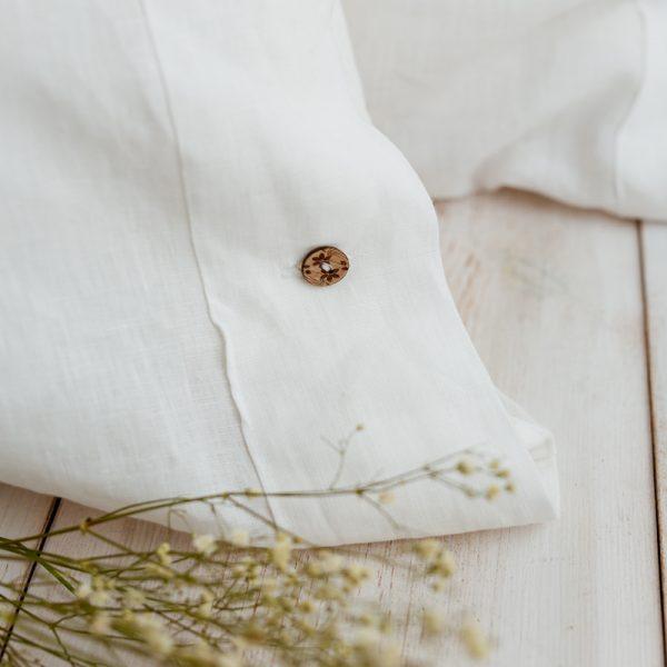 pillowcase white buttoned