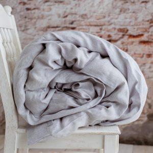 100 % linen children's duvet cover white grey