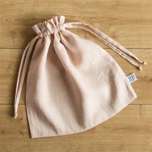 bag tender rose linen