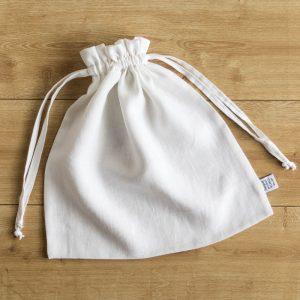linen bag white