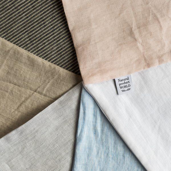 striped sheets white grey