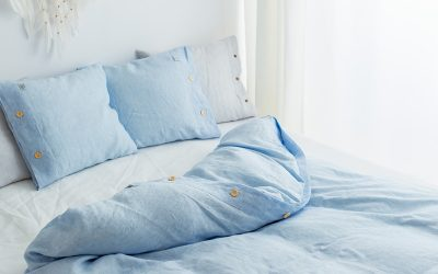 50 x 70 pillowcase white blue