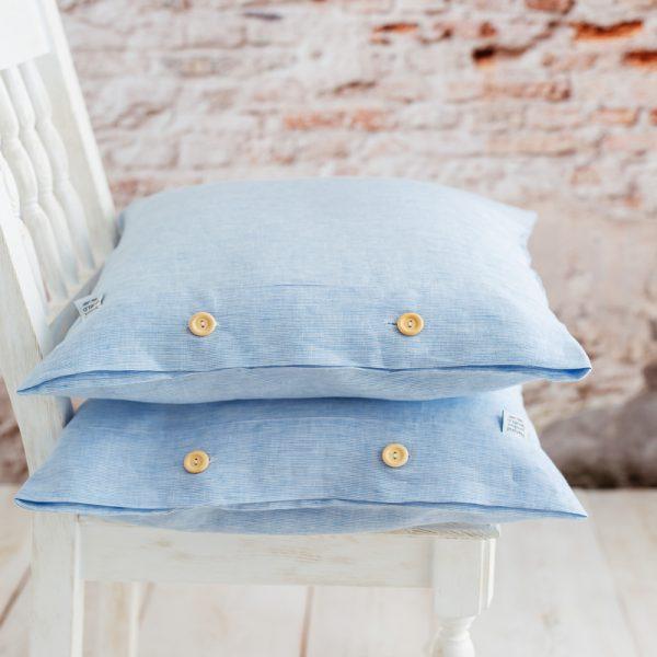 handmade pillowcase white blue