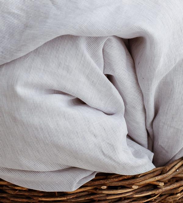linen sheets white grey stripes