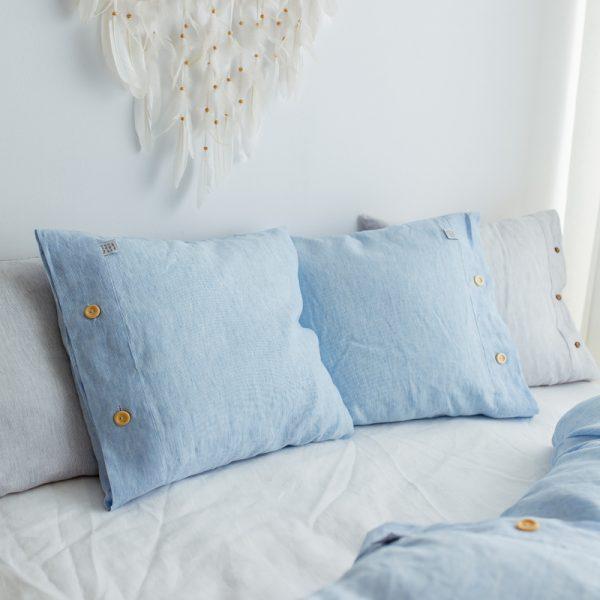 80 x 80 pillowcase white blue