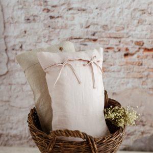 linen pillowcase tender rose