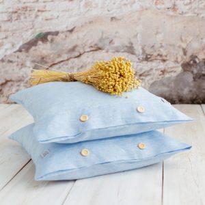 large pillowcase white blue