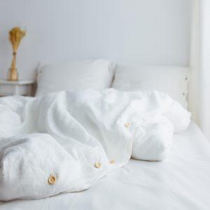 linen children's duvet cover white