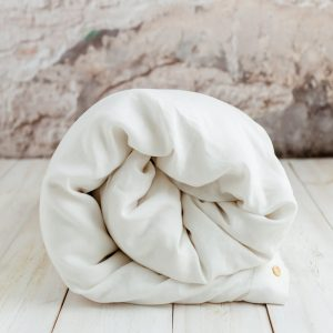 100 % linen duvet cover white