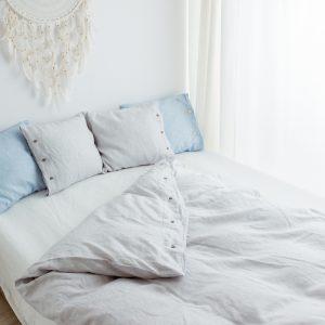hypoallergic pillowcase white/grey