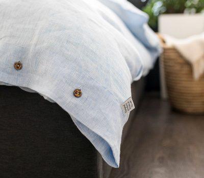 linen duvet cover stripes buttons